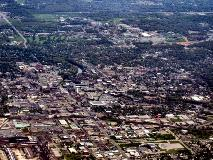 Aerial view of South Bend, IN